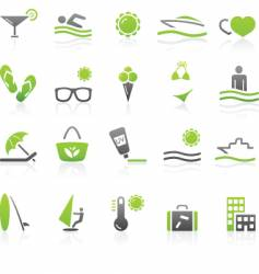 leisure icons vector image