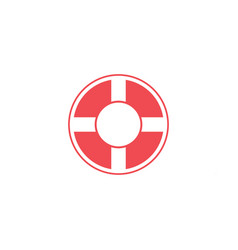 lifebuoy graphic design template isolated vector image