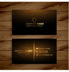 luxury premium golden business card template vector image