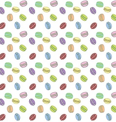 Macaroons seamless pattern Hand drawn sketch vector