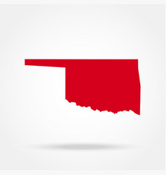map us state oklahoma vector image