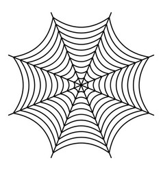 Nice spiderweb icon outline style vector