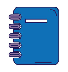 notebook school isolated icon vector image