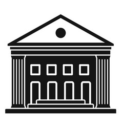 old courthouse icon simple style vector image