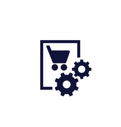 Order purchase processing icon vector