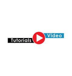 play video tutorials education button concept vector image