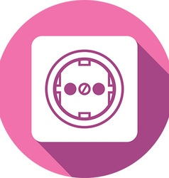 Power Plug Button Icon vector image
