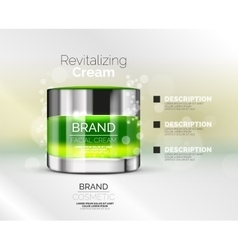premium cream ads vector image