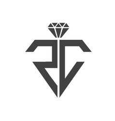 R c crystals logo designs simple modern vector