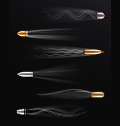 Realistic flying bullet fired bullets in motion vector