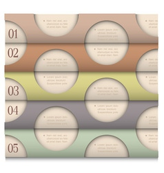Retro Design template with circles vector image