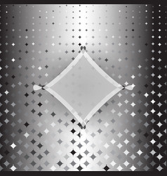 rhombus custom silver halftone abstract background vector image