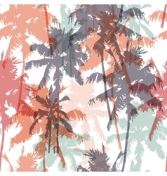 Seamless pattern with palm trees vector image