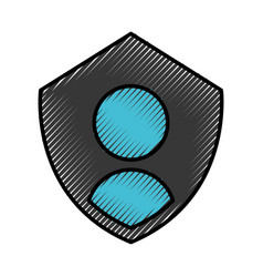 Security shield with user avatar vector