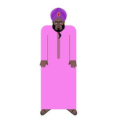 Sheikh in national Arab robe and turban of vector image
