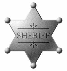 Sheriff's shield vector image vector image