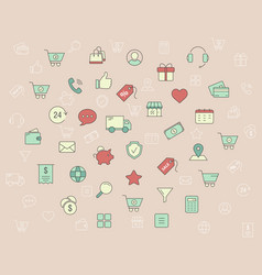 shopping icons 04 vector image