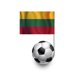 Soccer Balls or Footballs with flag of Lithuania vector