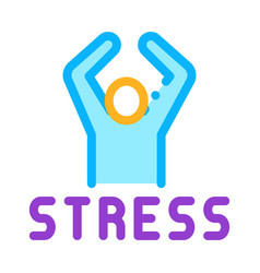 stress human icon outline vector image