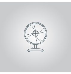 Table fan - vector