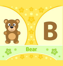 The english alphabet with bear vector