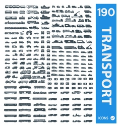 Transportation icons set of 190 icon vector