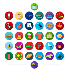 Travel sport architecture and other web icon vector