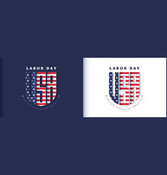 Usa happy labor day advertising banner template vector