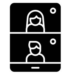 Videotelephony telecommuting or remote work icon vector
