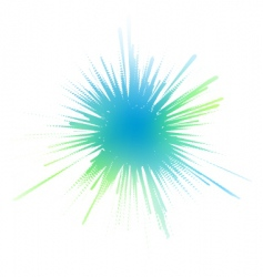 Watery ink splash vector
