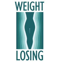 weight loss vector image vector image