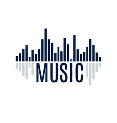 abstract equalizer icon music sound wave with vector image vector image
