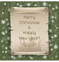 Congratulations to the Christmas and New Year vector image