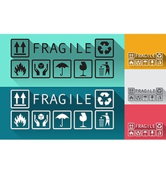 Fragile vector image vector image