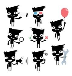 set of funny cartoon man vector image vector image