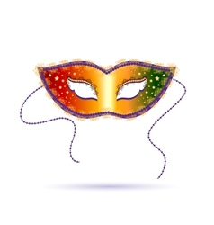 Venetian carnival template with mask vector image