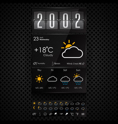 weather widgets template vector image