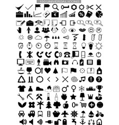 150 universal icons vector image