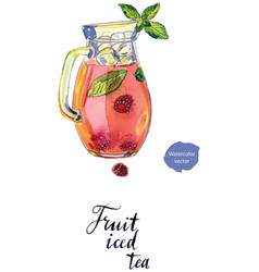 fruit iced tea in pitcher vector image