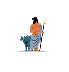 Hades sign Mythological Greek God of the dead vector image vector image