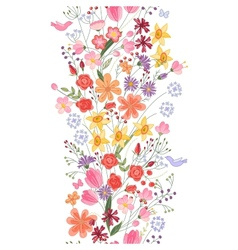 Seamless pattern brush Bunch of field flowers vector image vector image