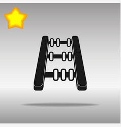 abacus black icon button logo symbol vector image vector image