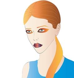 Beautiful Redhead Portrait vector image vector image