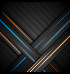 black abstract corporate background with glowing vector image vector image