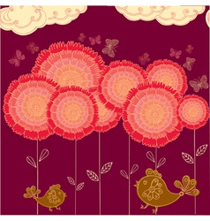 flower field background vector image vector image