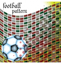 football abstract pattern vector image vector image