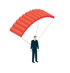 Isometric Parachutist icon vector image