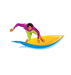 Surfing sign vector image