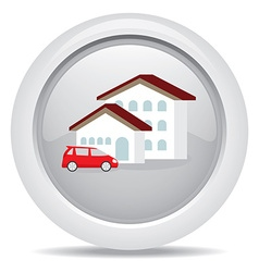 symbol icon dream luxury house and car business vector image