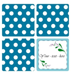 Nice card with pattern vector image vector image